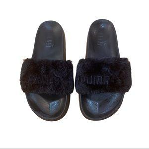 Women Black Fenty Puma Slides on Poshmark